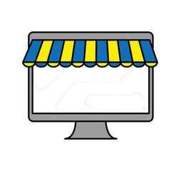 monitor computer icon over white background. colorful design. vector illustration