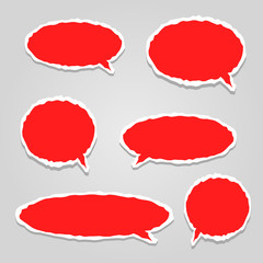 paper vector dialog clouds