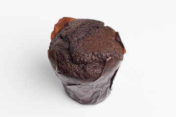Fresh muffin on white background