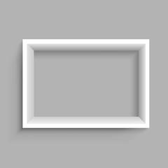 Rectangular vertical white shelf