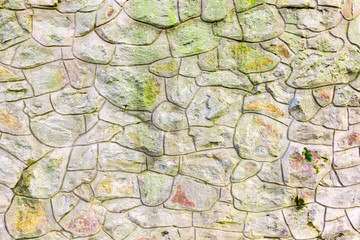 Stacked stone wall background