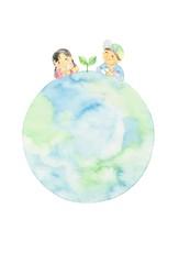 世界の子どもたち、地球、アジア系