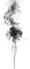 Black fantasy smoke on white background