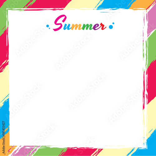 vector of swatch colorful frame design for template card or summer