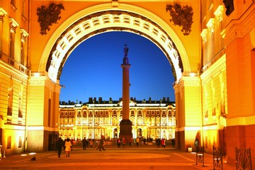 The Palace Square in Saint Petersburg ,Russia