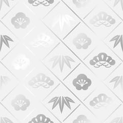 松竹梅 パターン 06 銀白