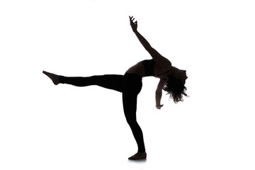 Silhouette of woman dancer