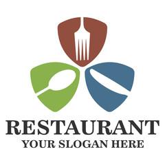 Restaurant logo template