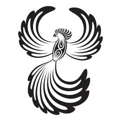 Phoenix with open wings