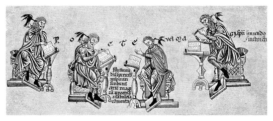 Medieval image representing inspirated poets