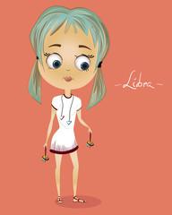 Zodiac sign Libra girl. Horoscope
