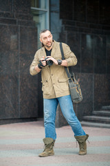 the man on the street photographing