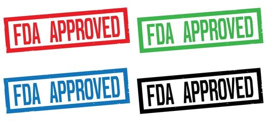 FDA APPROVED text, on rectangle border stamp sign.