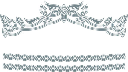 Celtic ornament frame border.