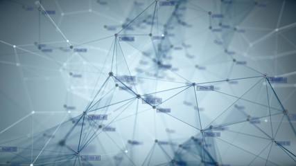 Concept of Network, internet communication - 3d render