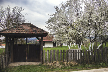 Wooden gate to an old farmstead