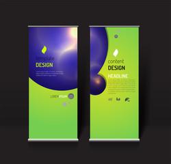 Roll up banner design template. modern effect light concept