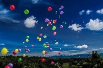Tilt Shift Balloon Release Fototapete