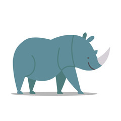 Vector Illustration of a Rhinoceros
