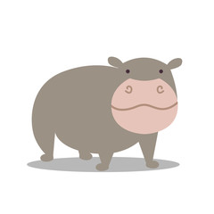 Vector Illustration of a Hippopotamus
