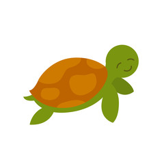 Vector Illustration of a Sea Turtle