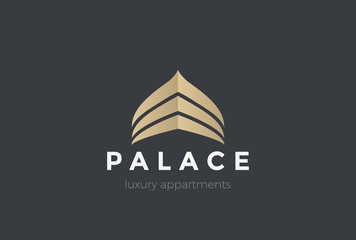Luxury Real Estate Palace Logo abstract Arabic architecture