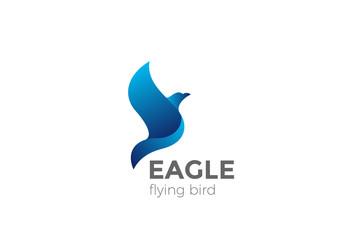 Flying Eagle Logo abstract vector. Falcon Hawk Logotype icon