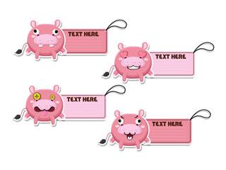 Cute cartoon Hippos vector your text here