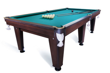 billiard table isolated on white