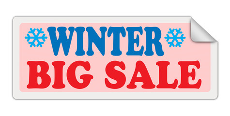 WINTER BIG SALE label on white