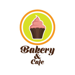 bakery logo with text space for your slogan / tagline, vector illustration