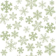雪の結晶 パターン 08 緑