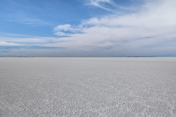 Dry Salar de Uyuni salt flat - Potosi Department, Bolivia