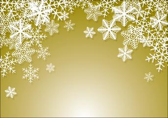 雪の結晶 背景 04 金