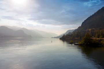 Paddle Boarding on the Columbia River Oregon