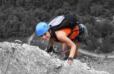 In de dag Alpinisme Marga Su Via Ferrata 1 (GIMP)2010