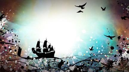 Experience the sailor life silhouette art photo manipulation