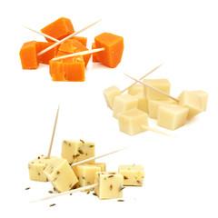 Cubes de fromage / Gouda et mimolette