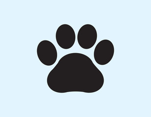 illustration vector of dog foot print