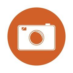 photographic camera icon over white backgorund. vector illustration
