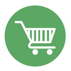 shopping cart icon over white background. vector illustration