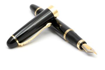 elegant fountain pen on white