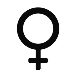 female gender icon over white background. vector illustration