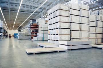 Stack of carton at logistics warehouse