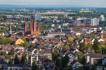 Blick auf Wiesbaden vom Neroberg; Deutschland