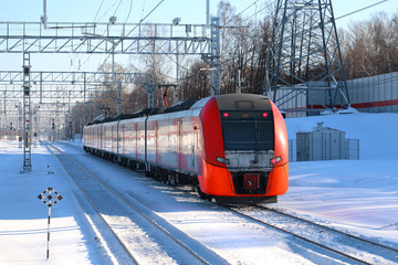 Landscape photos of the train arriving