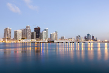 Wall Mural - Miami skyline at twilight