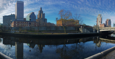 Panorama of the Providence city center