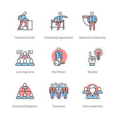 Management, team work, business concept symbols