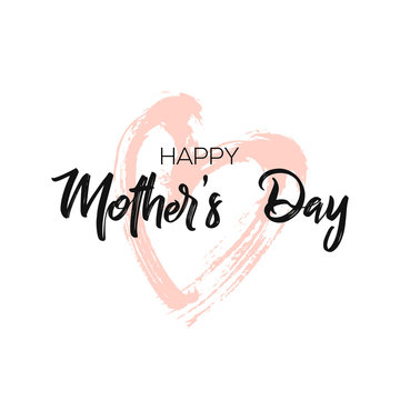 Happy Mother's Day Calligraphy Background. Design for flyer, card, invitation.